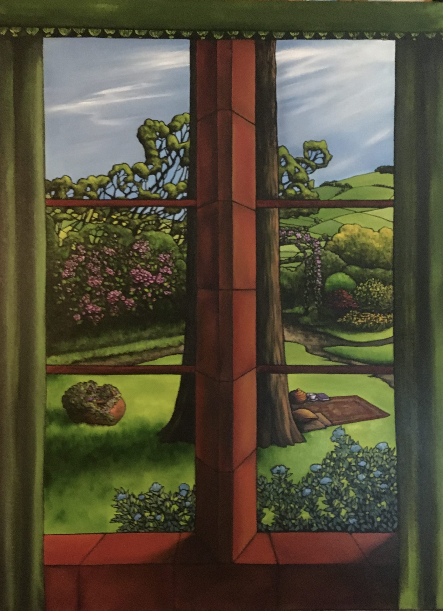 Boggle Hole window. oil on canvas, 60x80cm. Sold. Now in JS private collection.