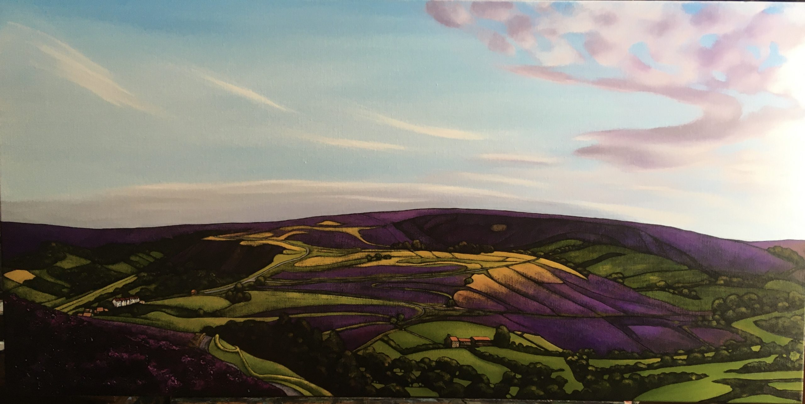 Towards Castleton. oil on canvas, £625. Sold.