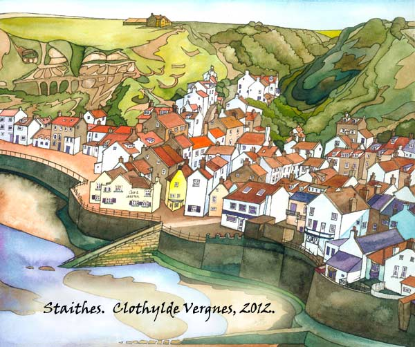 Remembering Summer.(Staithes from Boulby Bank). oils on canvas, 60x80cm. £650. Currently in Coast Gallery.
