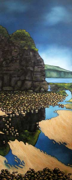 Boggle Hole, oil on canvas, 40x100x4cm, £425.