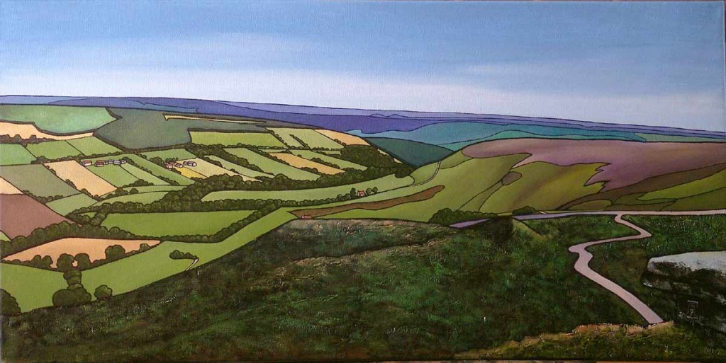 Rosedale. oils on canvas. Currently in Coast gallery, Cloughton