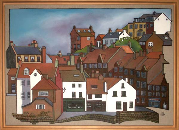 Whitby, East side. oils on linen, 50x70cm in wood frame. £650.