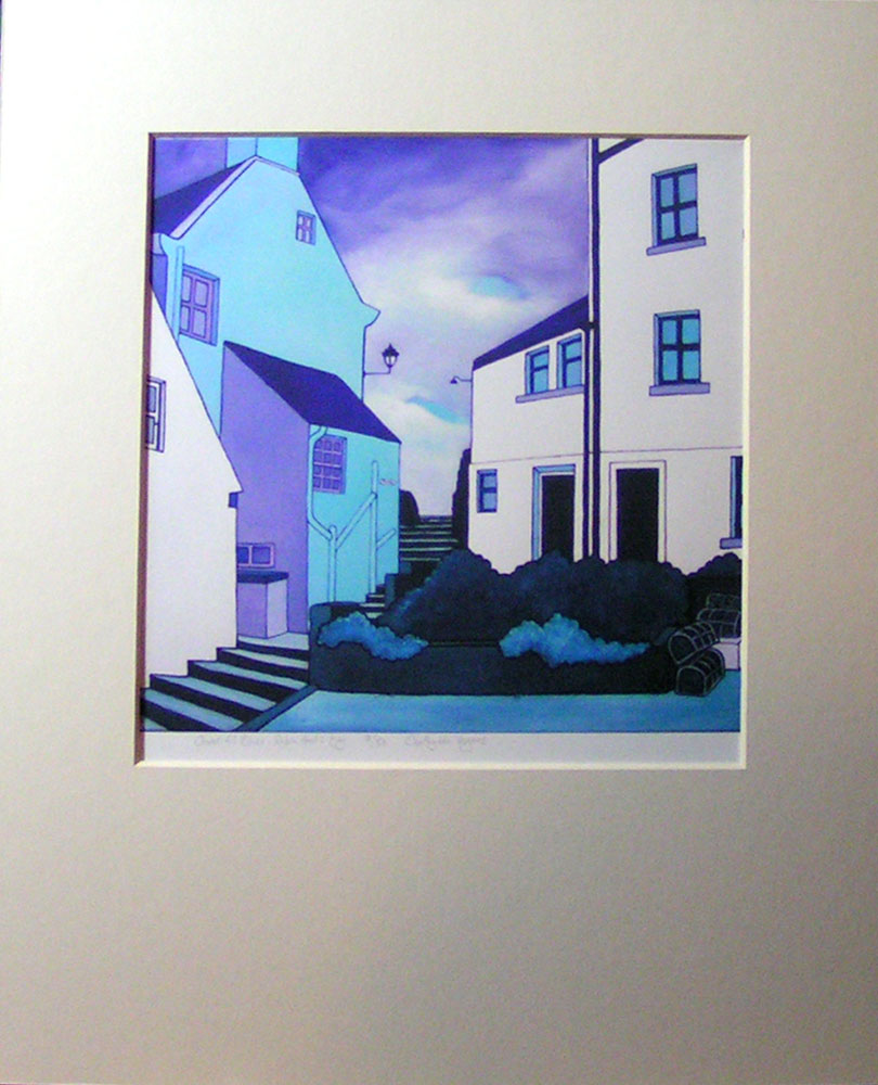 """Covet Hill Blues"", Robin Hood's Bay. No 9 of a limited edition of 50 archival prints, signed and numbered. 20x20cm print in 30x37cm antique white mount: £50."