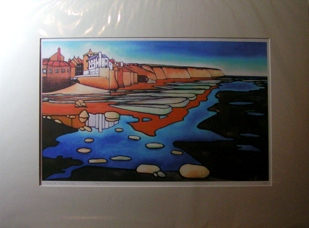 """""""Ebbing Tide"""", Robin Hood's Bay. No 26 of an unlimited edition of archival prints, signed and numbered. 30x50cm print in 50x70cm antique white mount: £75."""