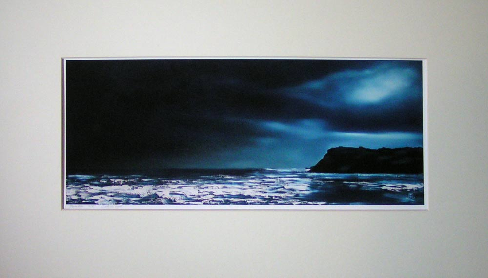 """Ravenstorm"", Robin Hood's Bay. No 12 of a limited edition of 75 archival prints, signed and numbered. 19x50cm print in 45x70cm antique white mount: £75."