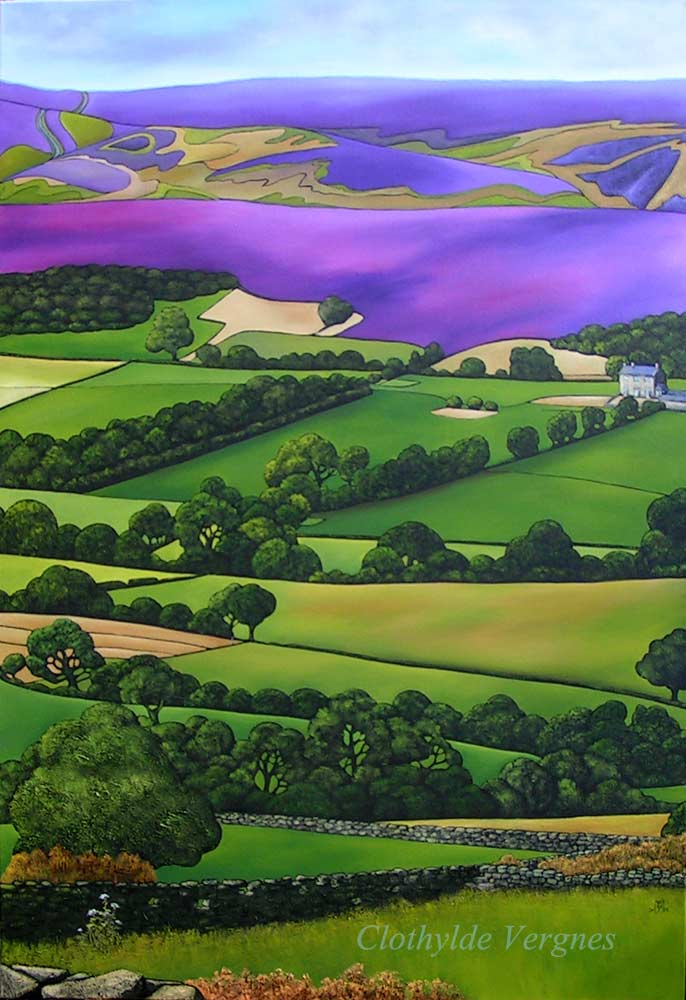 Westerdale, from Brown Hill. oils on canvas, 70x100cm. £1250