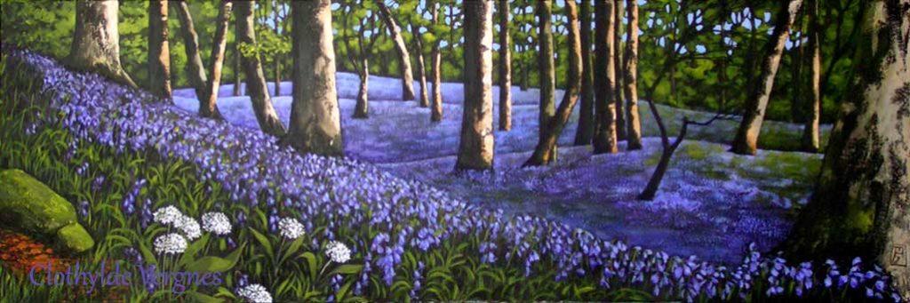 Bluebell Woods III. Acrylics on canvas, 60x90cm.