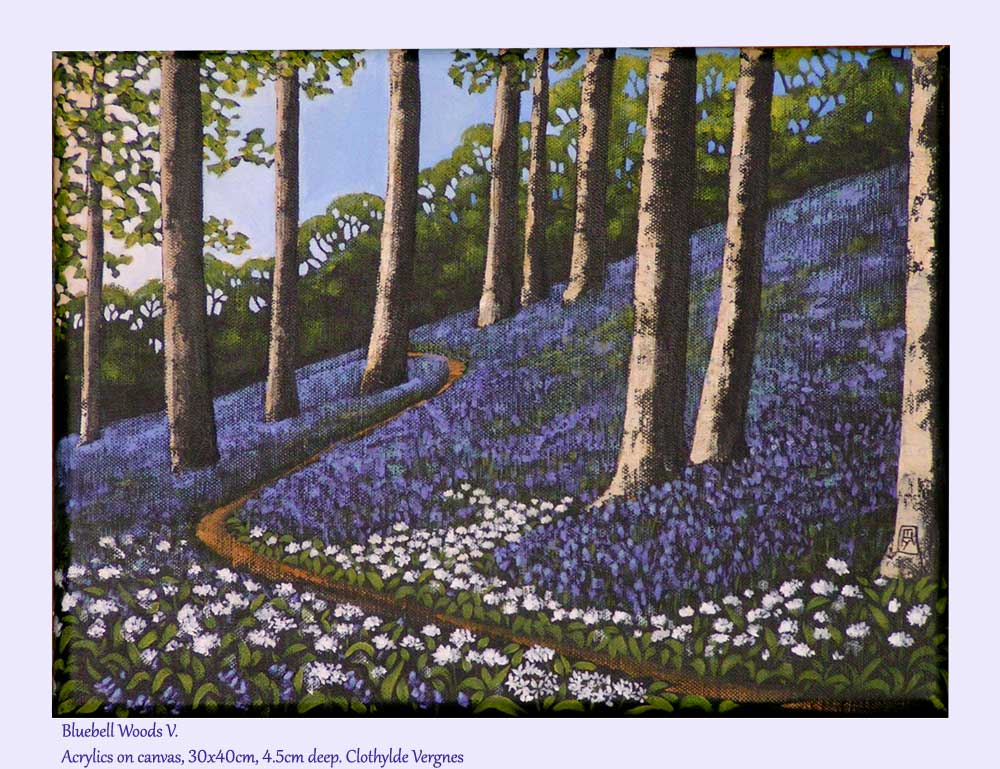Bluebell Woods V. Acrylics on canvas, 30x40cm. Reserved for F.R.