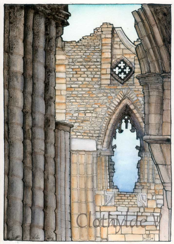 Whitby Abbey. watercolour.
