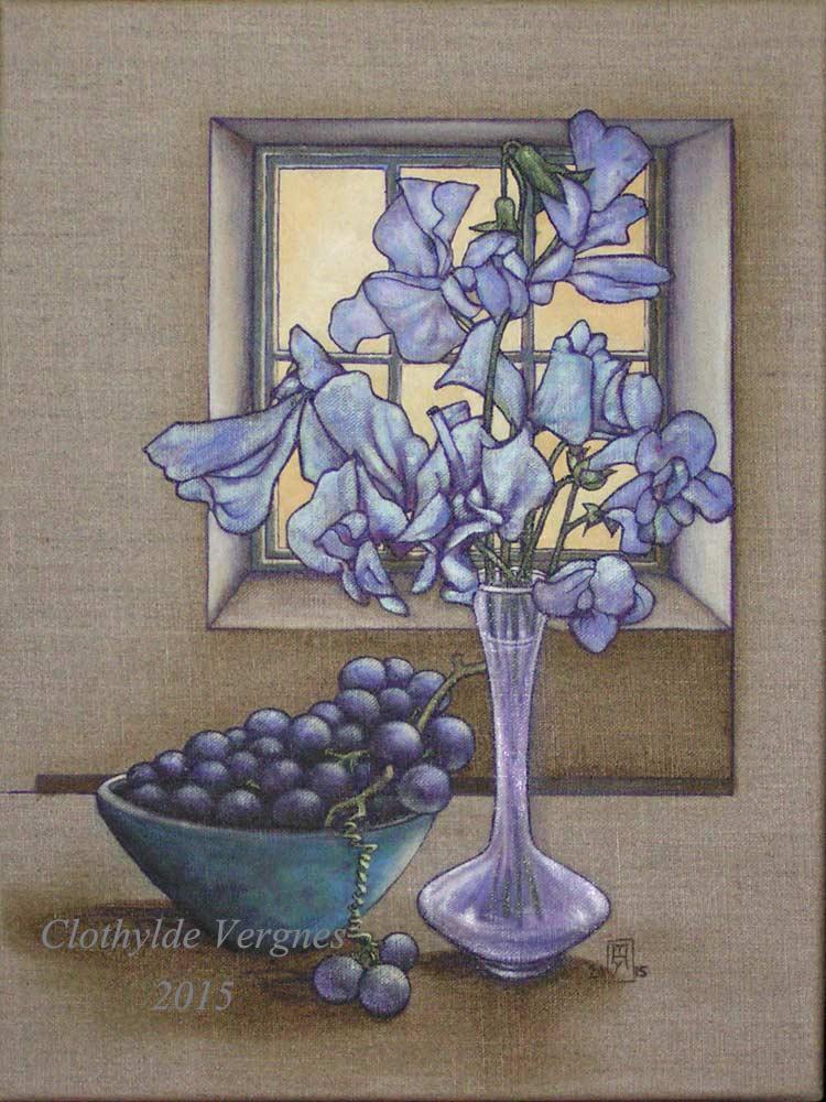 Autumn blues. oils. For L.V.
